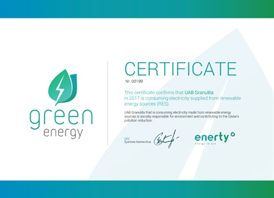 Certificate Green Energy